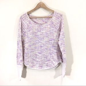 Free People Lavender Pastel Knit New Spaced Out